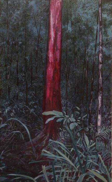 huile s toile, 130x80cm col. privée