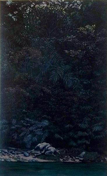 huile sur toile, 130x80 cm, 2018