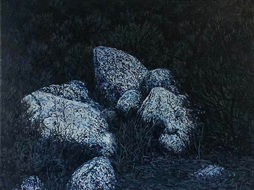 huile sur toile, 60x80 cm