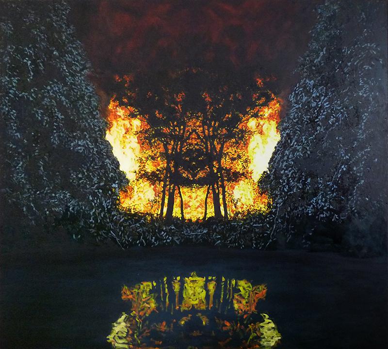 huile sur toile, 2019, coll. privée