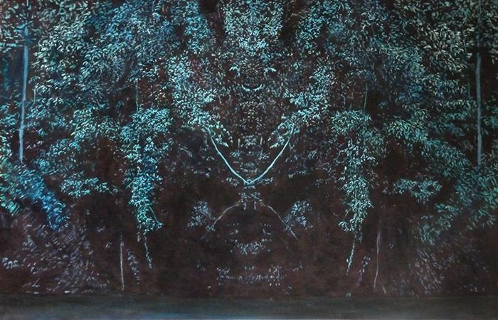 huile sur toile, 90x140 cm