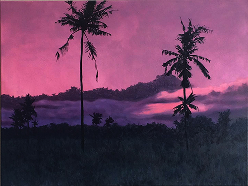 huile s. toile 60x80 cm col. privée