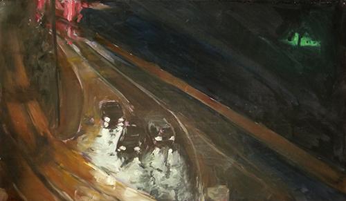 huile sur carton, 30,5x52,5 cm